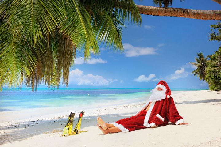 Take a page out of Santa's book and head somewhere exotic over Christmas.