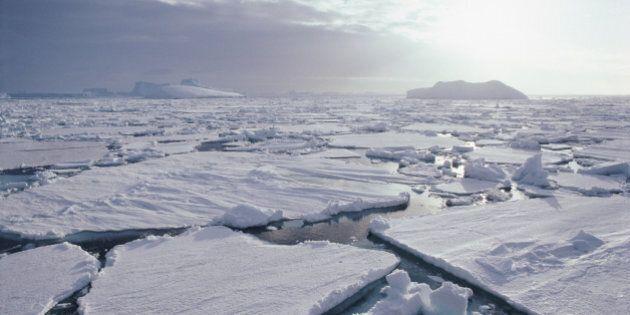 Antarctica, broken pack