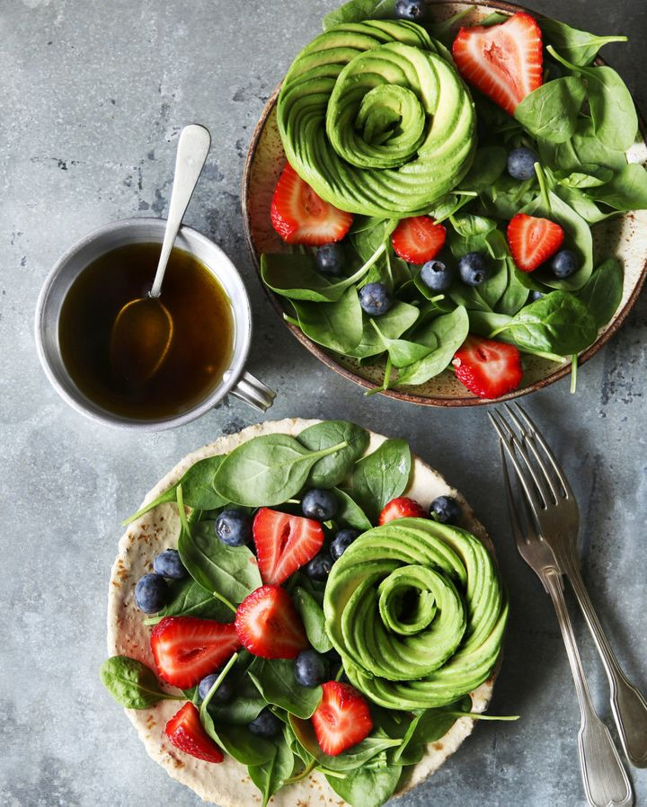 A salad never looked so pretty.