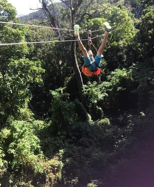 Zipline Fiji - travelling upside down is optional!
