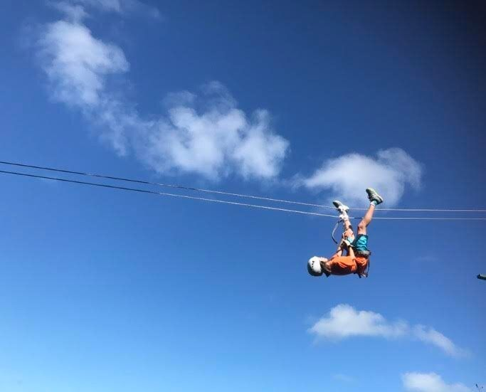 If you fancy ziplining 400 metres above sea level then this is the activity for you.