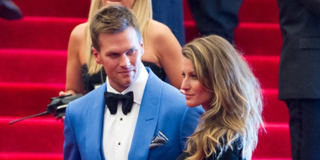 NEW YORK, NY - MAY 06: Tom Brady (L) and Gisele Bundchen attend the Costume Institute Gala for the 'PUNK:...