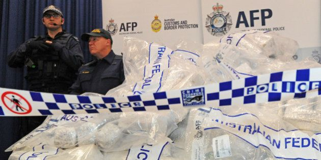 Australian Federal Police (AFP) guard 525 million USD worth of crystal methamphetamine ('ice') and heroin...
