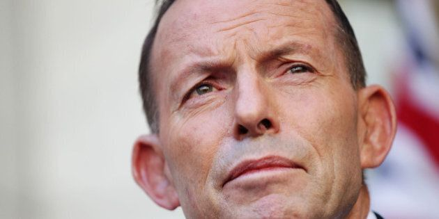 CANBERRA, AUSTRALIA - SEPTEMBER 15: Tony Abbott makes his final statement to the media as Prime Minister...