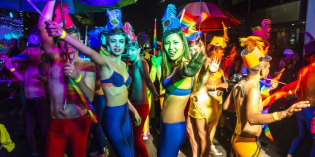Mardi Gras lesbica porno