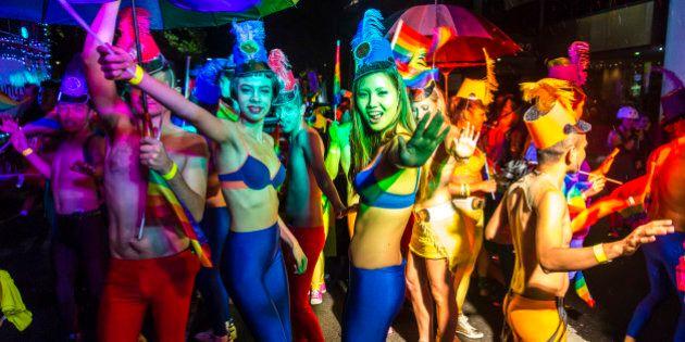 Participants in Mardi Gras