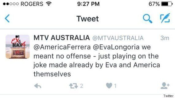 MTV Australia's Seemingly Cringe-Worthy 'English Subtitles' Tweet About Eva Longoria And America Ferrera...
