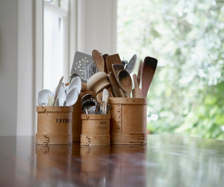 Head to op shops, garage sales and discount stores for cheap utensils.
