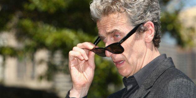 SYDNEY, AUSTRALIA - NOVEMBER 20: Dr Who's Peter Capaldi poses durnig a media call at Mrs Macquarie's...