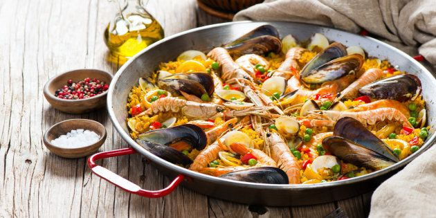 This recipe is all about tasty chorizo and fresh seafood.