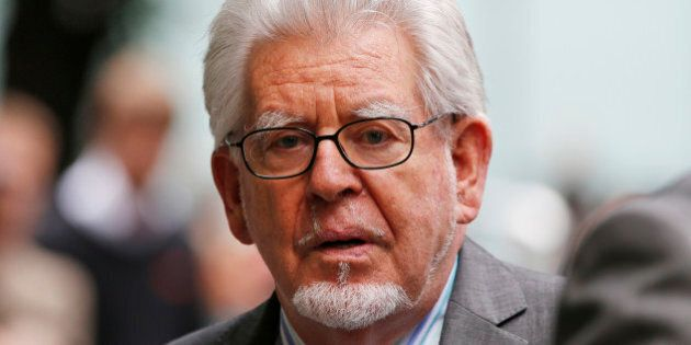 Veteran entertainer Rolf Harris leaves the Southwark Crown Court in London, Monday, June 30, 2014. A...