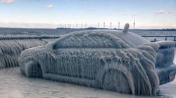 It's So Cold In Buffalo That Cars Are Turning Into Blocks Of