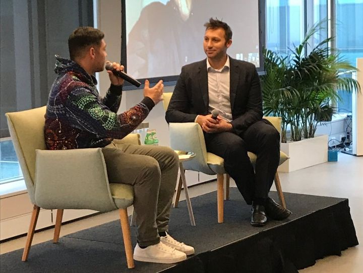 Ian Thorpe in conversation with AIME's Jake Thomson
