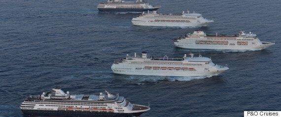 P&O Five Ship Spectacular Takes Place On Sydney