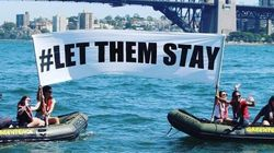 Greenpeace Just Staged A Powerful #LetThemStay Protest On Sydney