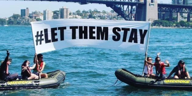 Greenpeace Launches Powerful #LetThemStay Protest On Sydney