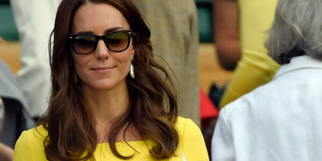 Britain Tennis - Wimbledon - All England Lawn Tennis & Croquet Club, Wimbledon, England - 7/7/16 Britain's Kate, Duchess of Cambridge in the royal box on centre court after USA's Serena Williams won her match against Russia's Elena Vesnina REUTERS/Toby Melville