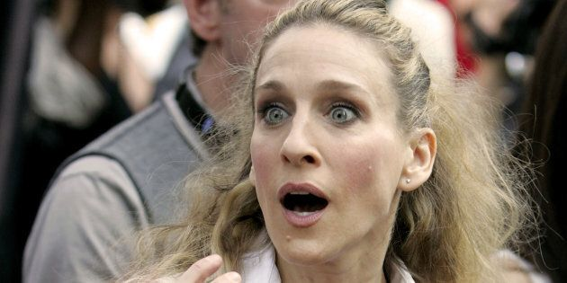 Carrie Bradshaw's knees are probably in pretty bad