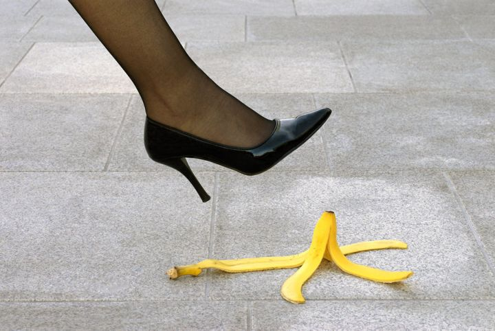 When it comes to stacking it in heels, no banana necessary.