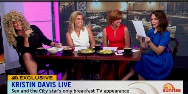 Kristin Davis Expresses Disappointment Over Sunrise Skit On