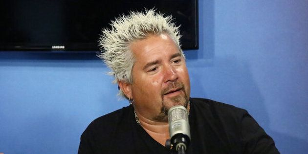 NEW YORK, NY - JULY 27:  (EXCLUSIVE COVERAGE) TV personality Guy Fieri visits the SiriusXM Studios on July 27, 2016 in New York City.  (Photo by Astrid Stawiarz/Getty Images)
