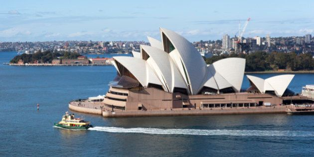The distinctive Sydney Opera House , seen here from the Harbour Bridge walkway, is internationally recognised...