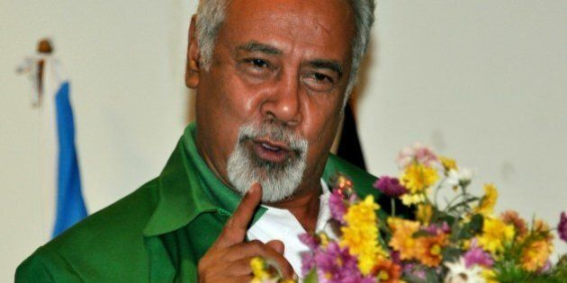 East Timor Prime Minister Xanana Gusmao delivers an address before the National Congress of East Timor's...