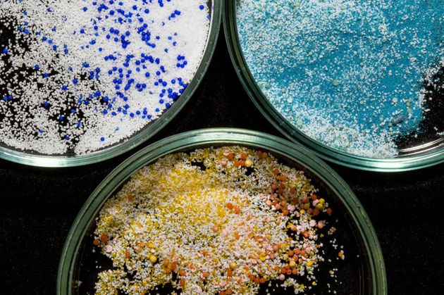 The colourful but dangerous microbeads used in the