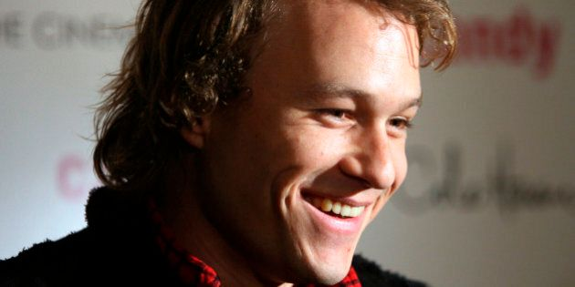 ** FILE ** In this Nov. 6, 2006 file photo, actor Heath Ledger arrives for the premiere of his new