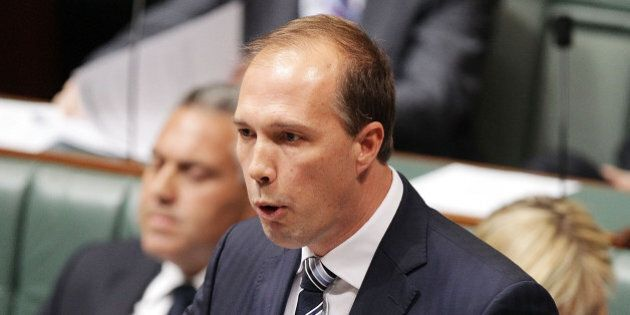 CANBERRA, AUSTRALIA - JULY 15: MInister for Health Peter Dutton during Question Time at Parliament House...