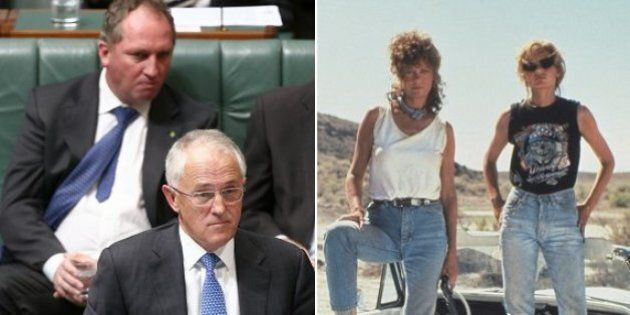Malcolm Turnbull Says He And Barnaby Joyce Are On A 'Thelma And Louise'