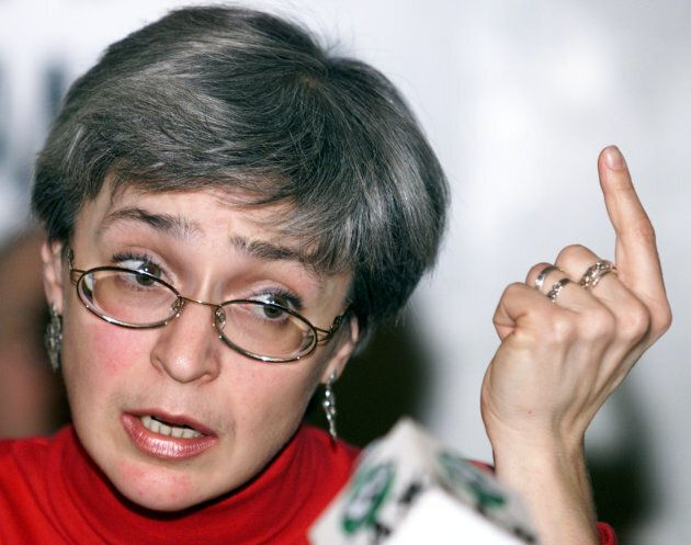 Investigative journalist Anna Politkovskaya was shot at point blank range in her apartment building