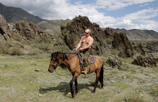 Putin has cultivated an image as a virile and charismatic