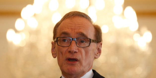 Australian Foreign Minister Bob Carr speaks during a press conference following a special conference...