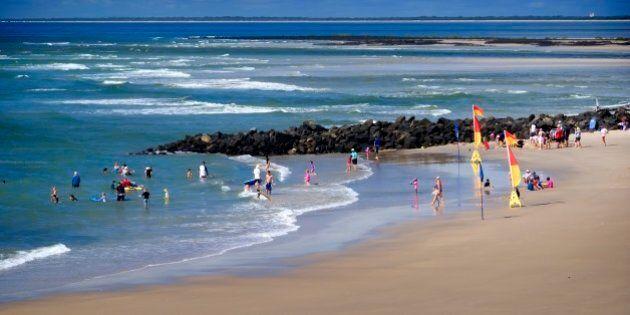 Elliott Heads, a popular tourist destination: coastal village with a small ocean beach and an expansive...