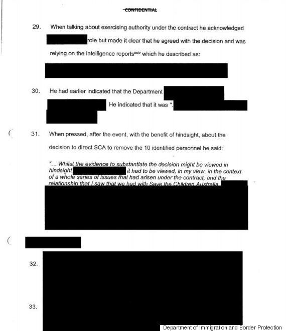 This Is How Most Of The Report Into Removal Of Staff From Nauru