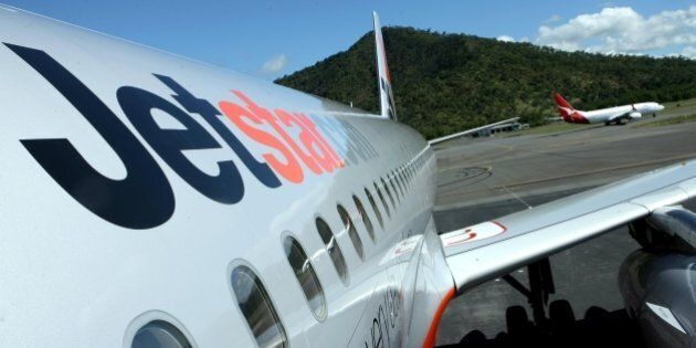 (AUSTRALIA & NEW ZEALAND OUT) A Jetstar jet stands on the tarmac, 12 July 2007. AFR Picture by JIM RICE...