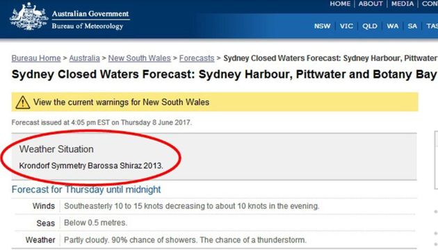 This Was The Booziest Aussie Weather Forecast We've Ever