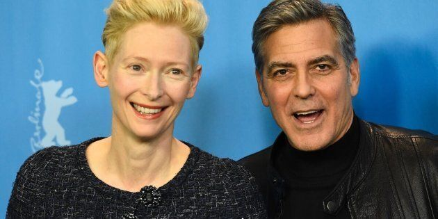"""""""I have twins myself and [George] always used to laughabout me looking so tired when the twins were small, and now I havethe last laugh,"""" Swinton joked."""
