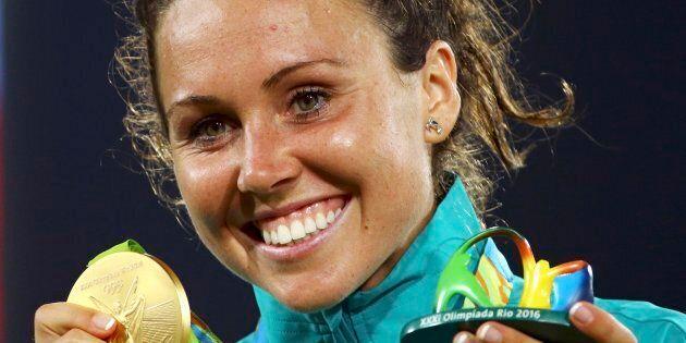 Chloe Esposito has claimed pentathlon gold in Rio.
