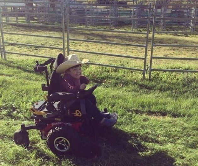 Beau isn't needing his wheelchair as much as he once used to, now that he's getting regular treatment.