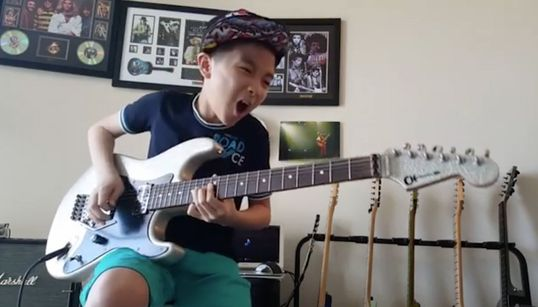The 12-Year-Old Guitar Prodigy Who Plays From the