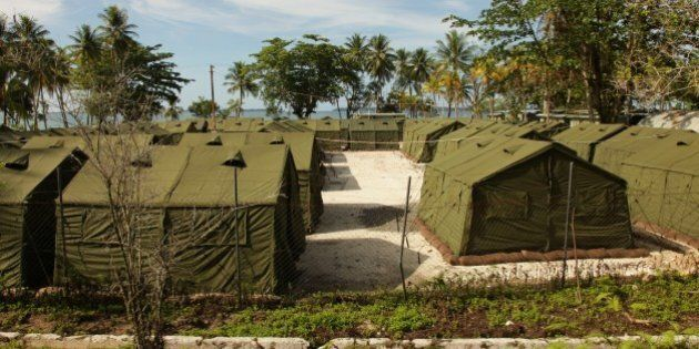 MANUS ISLAND, PAPUA NEW GUINEA - OCTOBER 16: In this handout photo provided by the Australian Department...