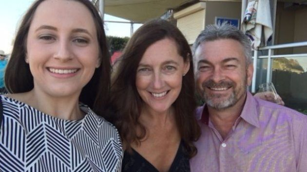 Karen Ristevski (centre) with husband Borce and daughter Sarah. Her body was found in bushland at Mount Macedon on February 20, seven months after she was reported missing.
