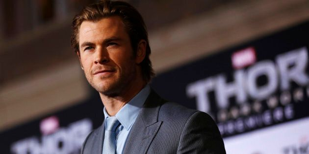 Chris Hemsworth is on the streets of Brissy