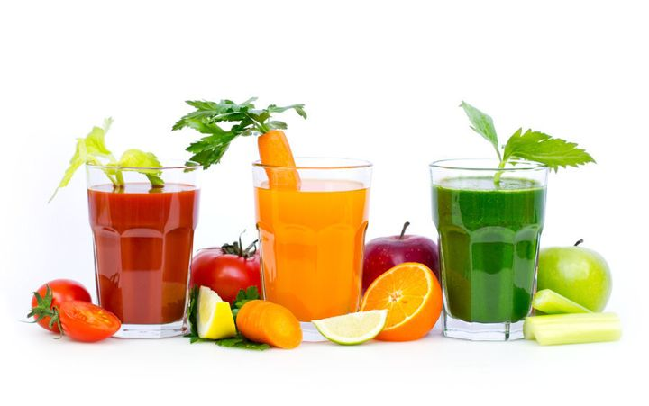 Add some veggies to your juice to tone down the sweetness.