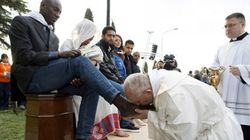 Pope Francis Washes Refugees' Feet In Catholic