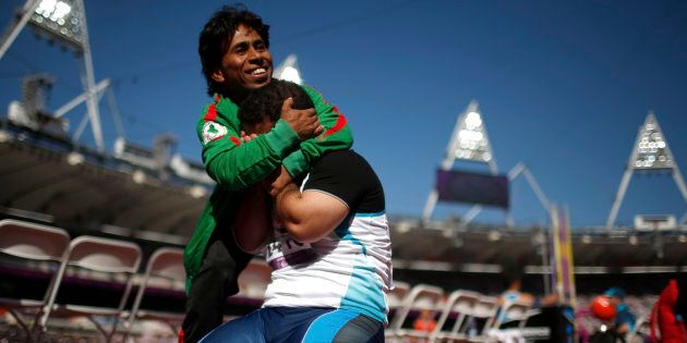 Just one of the thousands of beautiful moments captured at the last Paralympic