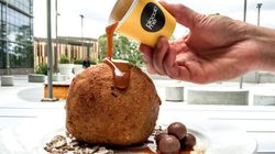 This Gigantic Nutella Fried Ice Cream Ball Will Have You Salivating For