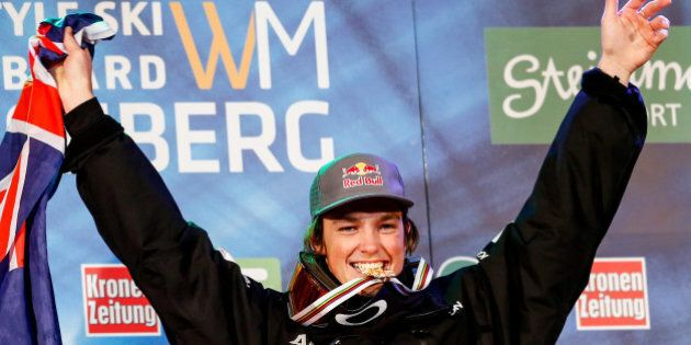 KREISCHBERG, AUSTRIA - JANUARY 17: (FRANCE OUT) James Scotty of Australia takes 1st place during the...